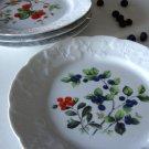 Lierre Sauvage France Dansk 8'' Salad / Dessert Plate Berries Set of 4