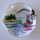 Vintage Occupied Japan Hand Painted Leaf Shaped Trinket / Candy Dish