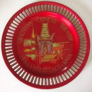 Vintage Souvenir Grauman's Chinese Theater Hollywood CA Laquerware Serving Tray