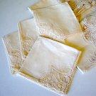 Battenberg Lace & Linen Card Table Tablecloth w/ Napkins