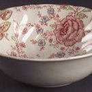 Vintage Johnson Brothers Rose Chintz Pink Cereal Bowl