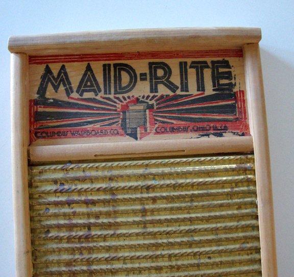 Vintage Maid-Rite No 2062 Washboard -  Columbus Washboard Co.