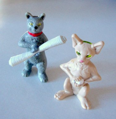 2010 Burger King Cats & Dogs Kitty Galore and Catherine Figures