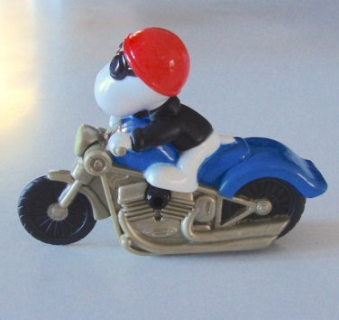 2007 Burger King Snoopy on Motorcycle Action Figure