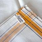 Vintage Niagara Textile Co. Lockport NY Cotton Striped Kitchen Towel - Set of 3