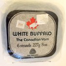 NOS Vintage White Buffalo The Canadian Yarn 8 oz - Ivory - Set of 6 packages