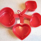 Vintage PROMISE Margarine Heart-Shaped Measuring Cups