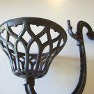 Antique Cast Iron Wall Sconce Oil Lampholder - Pear Shape Cup
