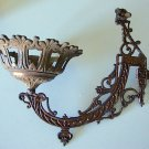 Antique Cast Iron Wall Sconce Oil Lampholder
