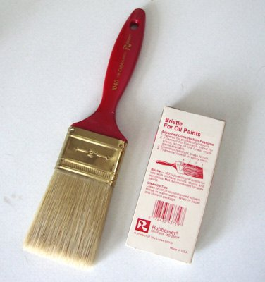 "NOS - Vintage Rubberset 2"" China Bristle Paint Brush #1040 for Oil Paints"