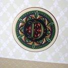 Punch Studio 'D' Monogram Blank Note Cards w/  Envelopes  Box of 10