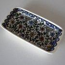 Vintage Handpainted Ceramic Butter / Tidbit Dish