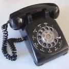 Vintage 1968 Bell System Rotary Desk Telephone - Black