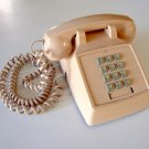 Vintage 1985 PREMIER 2500 Push Button DESK Telephone - Beige