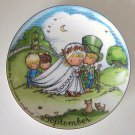 Vintage 1966 Joan Walsh Anglund September Month Collector Plate