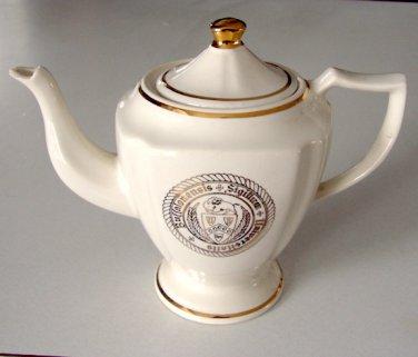 Vintage WC Bunting Seal of University at Buffalo Teapot