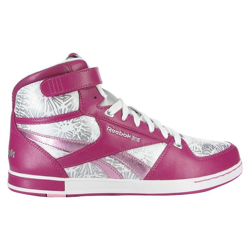 New Reebok Classic CL Hialeah Mid Pink-Silver Size 9 NIB