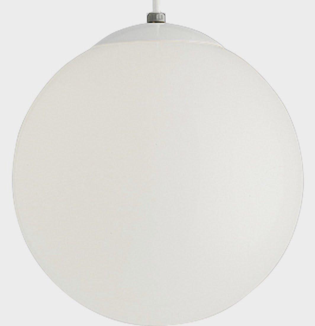 "Vintage Pendant 12"" Glass Globe - Mid Century Modern Light Fixture"
