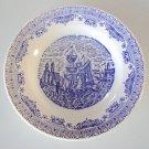 Vintage Blue & White N.I.C.E. Extra Stone Italia 1871 Rimmed Soup Bowls Set of 4