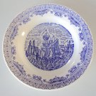 Vintage Blue & White Plate N.I.C.E. Extra Stone Italia 1871 Dinner Plate Set of 3
