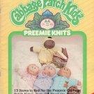 Vintage 1985 Xavier Roberts CABBAGE PATCH KIDS Preemie Knits Pattern Book