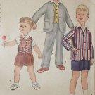 Vintage SIMPLICITY BOY'S Pattern #1019 Jacket, Vest & Pants in 2-Lengths Sz 6
