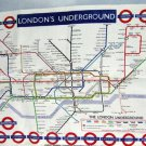 Vintage The London Underground Subway Map IRISH Tea Towel