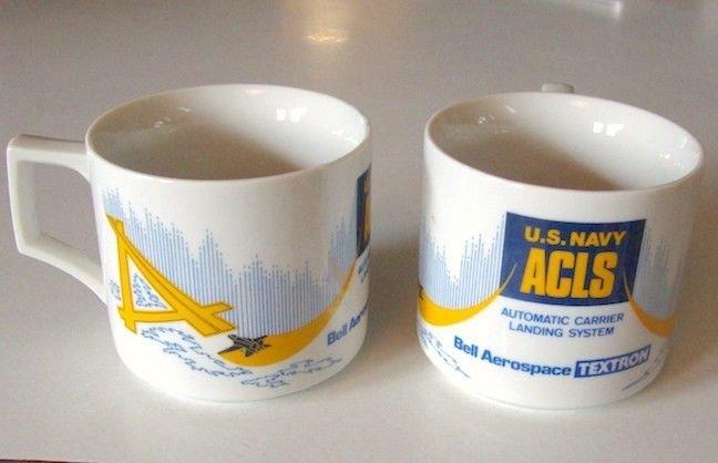 Bell Aerospace Textron U.S. Navy ACLS Coffee Cup Mug - Set of 2