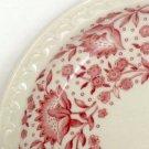 "Vintage Syracuse China Roxbury Red 5 1/4"" Saucer (no cups) Set of 3"