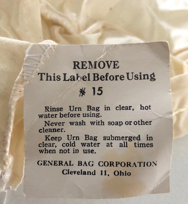 Vintage General Bag Corporation Coffee Urn Muslin Filters - Set of 6 NOS