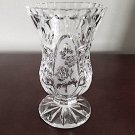 Zajecar Yugoslavia Lead Crystal Footed Bud Vase