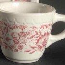 Vintage Syracuse China Roxbury Red Cup & Saucer - Set of 4