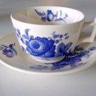 Vintage Spode SP211 Blue Floral Cup and Saucer