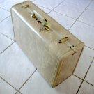 Vintage Samsonite Streamlite Luggage Natural Rawhide Marble Ladies Overnite O'Nite