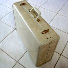 Vintage Samsonite Streamlite Luggage Natural Rawhide Marble Ladies Wardrobe