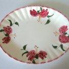 Vintage Blue Ridge Handpainted 3695 Amarylis Oval Platter