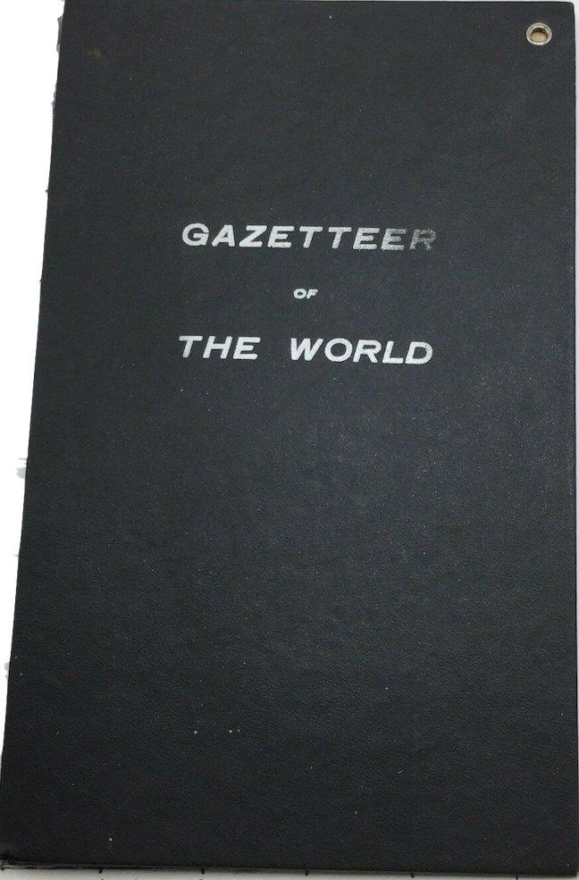 1909 Gazetteer Of The World - Bullard Co. 34 X 39� World Map