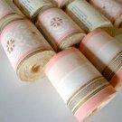 Vintage Imperial Wallpaper Borders NOS - 12 rolls #0511, 0675 Pink & Gold