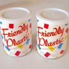 Vintage 1986 Friendly Plastic Pellets 4.4-Ounce Set of 2