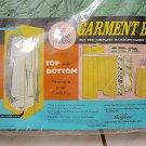 Vintage 1966 BOGENE Jumbo 16 Dress Garment Bag Quilted Vinyl - Green