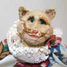 Doris the Cat Composite / Fabric Doll - artist Brenda Tomasello