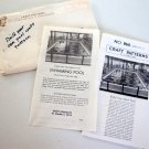 Vintage A. Neely Hall Craft Pattern No. 868 'Build Your Own Pool'