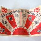 Vintage PENN REELS Catalog 34B Instruction Manual & Repair Parts List