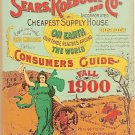 Vintage 1970 DBI Books Sears Roebuck and Co Consumers Guide Fall 1900 Reproduction