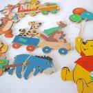 Vintage Winnie The Pooh & Friends Wall Hanging Cardboard 5 Piece Nursery Set