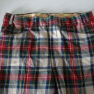 Vintage 1970s Plaid Bell Bottom Pants w/ Cuff