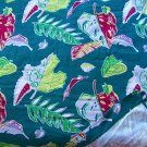 Vintage 40s-50s Stylized Leaves Barkcloth Panel - over 20 feet long!