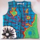MICHAEL SIMON Women Nautical Map V-Neck Sweater Vest