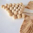 Vintage Crochet Grape / Leaf Table / Centerpiece Doily