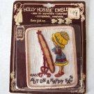 Vintage Holly Hobby Emblems Postcard